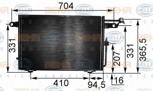 Радиатор кондиционера HELLA 8FC 351 035-531