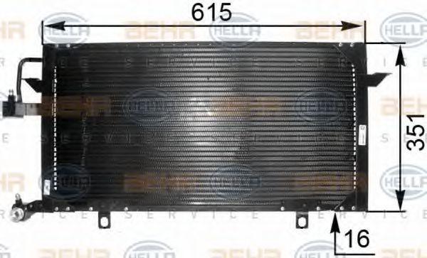 Радиатор кондиционера HELLA 8FC 351 035-551