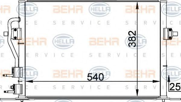 Радиатор кондиционера HELLA 8FC 351 035-581
