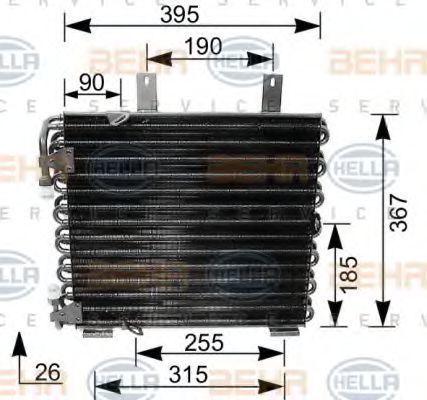 Радиатор кондиционера HELLA 8FC 351 035-621
