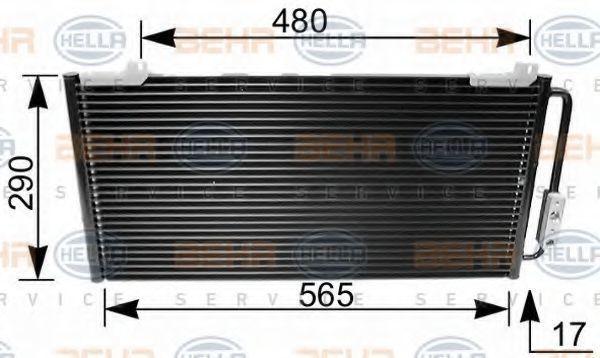 Радиатор кондиционера HELLA 8FC 351 035-641