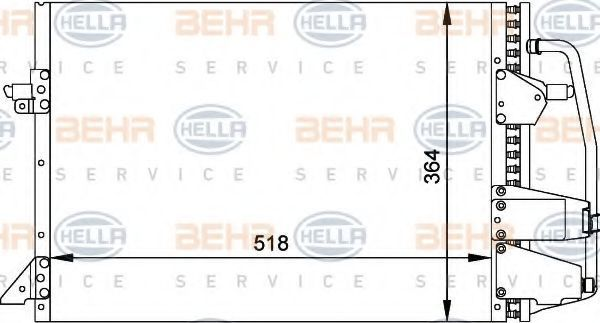 Конденсатор, кондиционер HELLA 8FC351035701