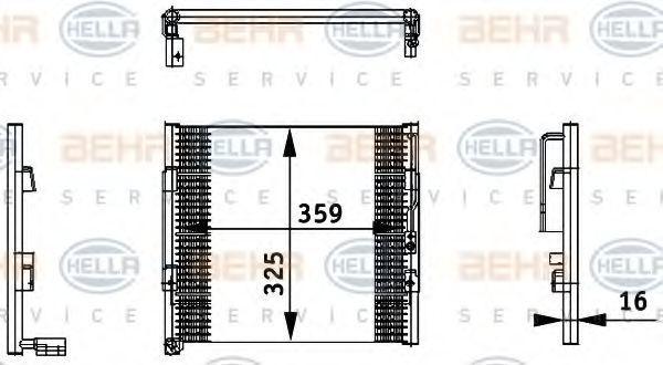 Радиатор кондиционера HELLA 8FC 351 035-731