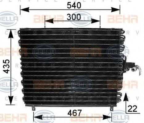 Радиатор кондиционера HELLA 8FC351035771