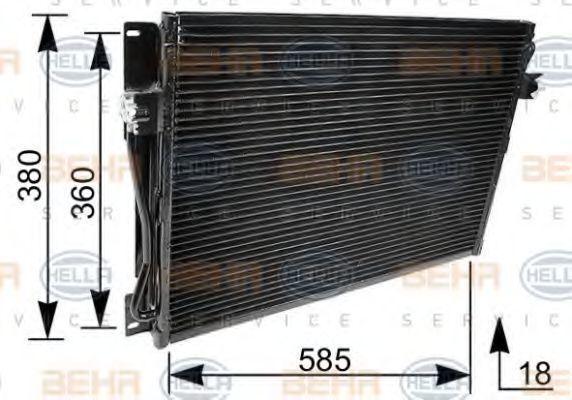 Радиатор кондиционера HELLA 8FC351036091