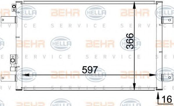 Радиатор кондиционера HELLA 8FC351036111