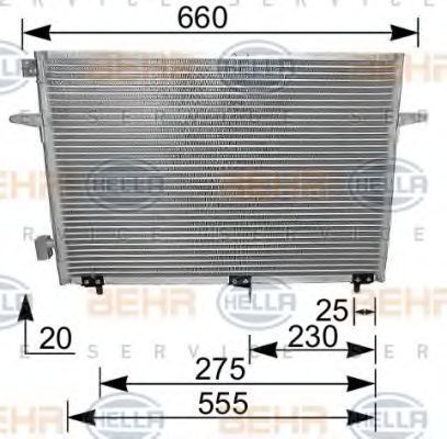 Радиатор кондиционера HELLA 8FC 351 036-251