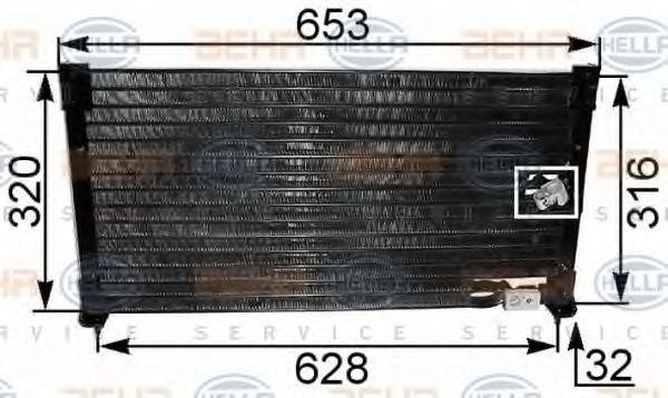 Радиатор кондиционера HELLA 8FC 351 036-281