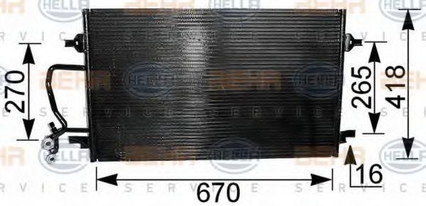 Радиатор кондиционера HELLA 8FC351036391