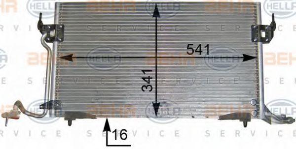Радиатор кондиционера HELLA 8FC 351 036-401