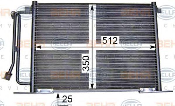 Радиатор кондиционера HELLA 8FC 351 036-411