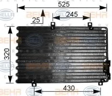 Радиатор кондиционера HELLA 8FC351036741