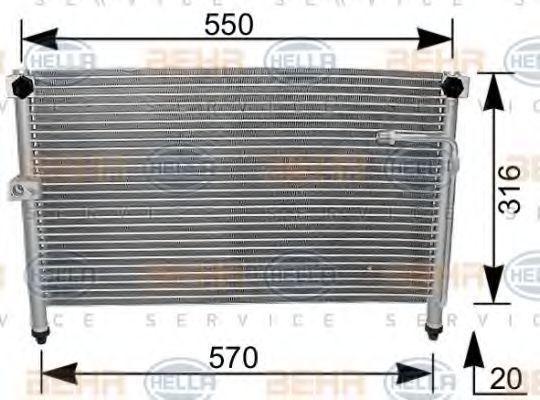 Радиатор кондиционера HELLA 8FC 351 037-041