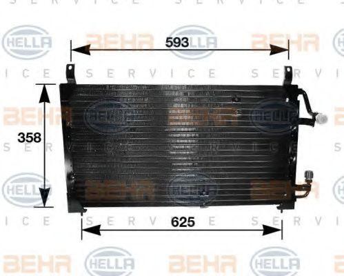 Радиатор кондиционера HELLA 8FC351037111