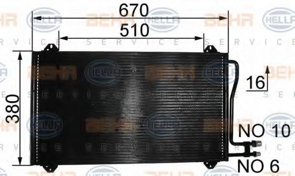 Радиатор кондиционера HELLA 8FC 351 037-161