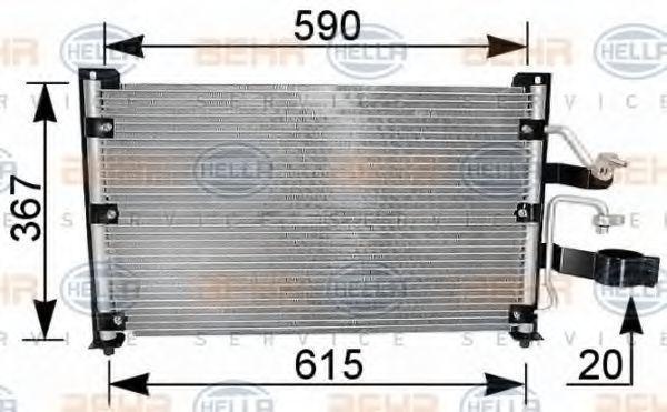 Радиатор кондиционера HELLA 8FC 351 037-211