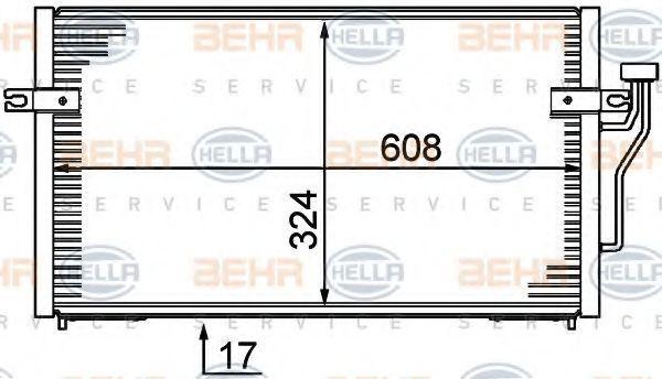 Радиатор кондиционера HELLA 8FC 351 037-351