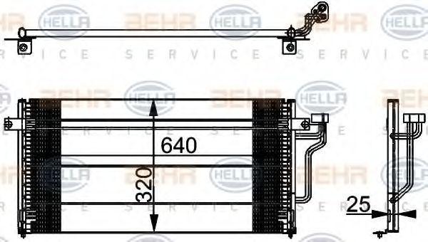 Радиатор кондиционера HELLA 8FC 351 037-371