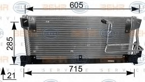 Конденсор кондиционера HELLA 8FC351037381