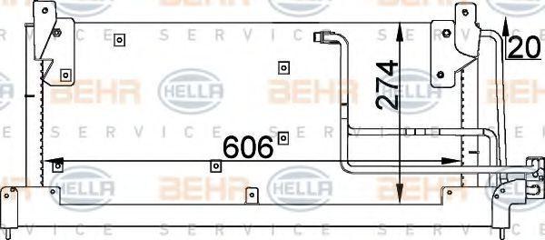 Конденсор кондиционера HELLA 8FC351037591