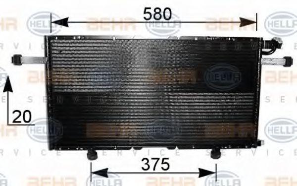 Радиатор кондиционера HELLA 8FC351037601