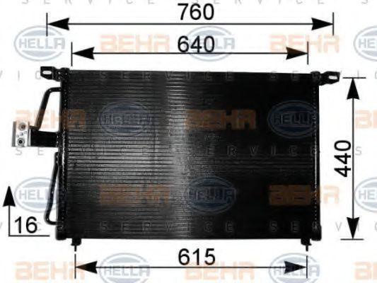 Радиатор кондиционера HELLA 8FC 351 037-611