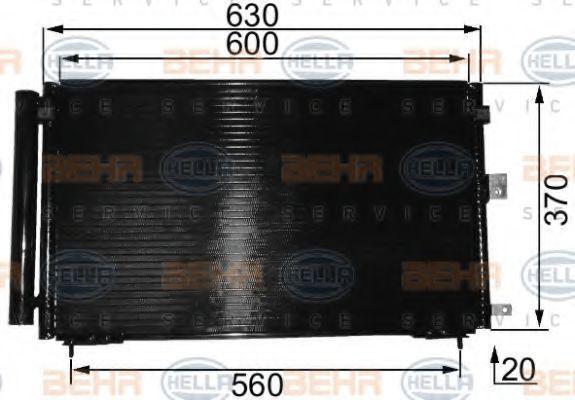 Конденсатор, кондиционер HELLA 8FC351037661