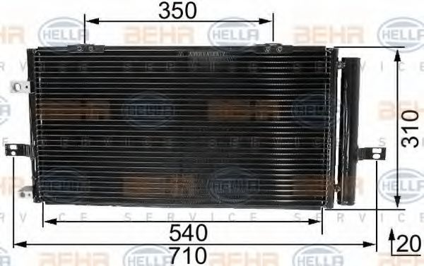 Радиатор кондиционера HELLA 8FC 351 037-671