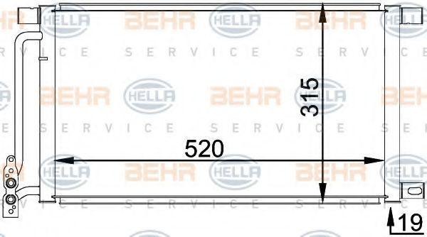 Радиатор кондиционера HELLA 8FC351038211