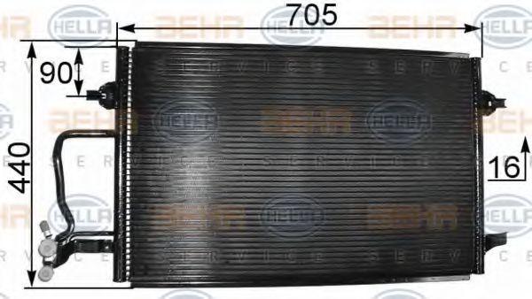 Радиатор кондиционера HELLA 8FC351038441