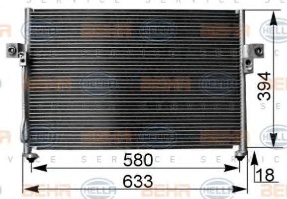 Радиатор кондиционера HELLA 8FC 351 038-761