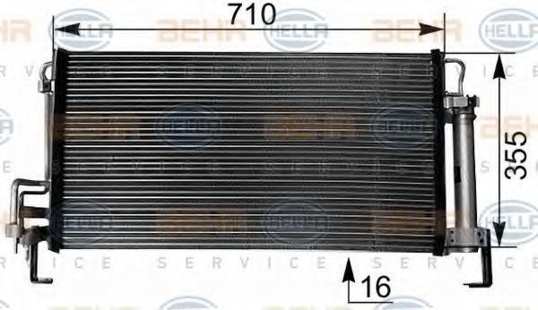 Радиатор кондиционера HELLA 8FC 351 038-791
