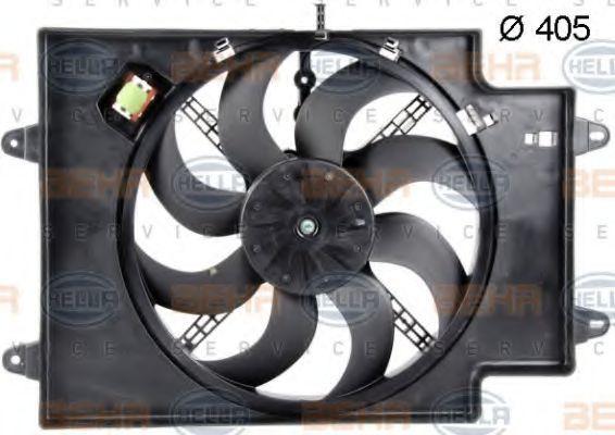 Вентилятор, охлаждение двигателя HELLA 8EW351039621