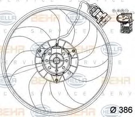Вентилятор охлаждения двигателя HELLA 8EW351039711