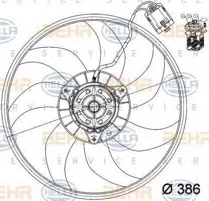 Вентилятор охлаждения двигателя HELLA 8EW351039741