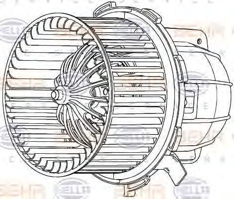 Вентилятор отопителя HELLA 8EW 351 040-251
