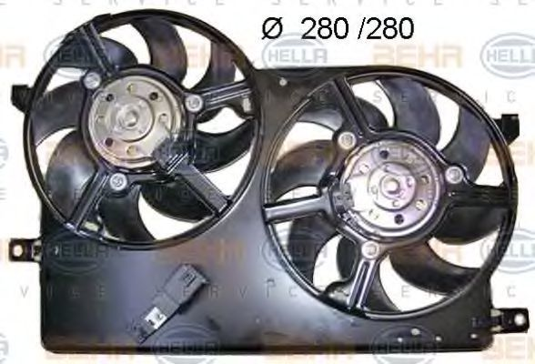 Вентилятор, охлаждение двигателя HELLA 8EW351040731