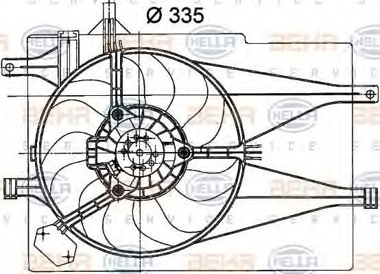 Вентилятор, охлаждение двигателя HELLA 8EW351041041