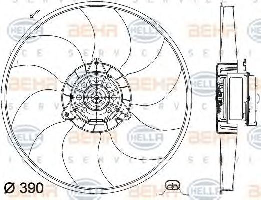 Вентилятор, охлаждение двигателя HELLA 8EW351041241