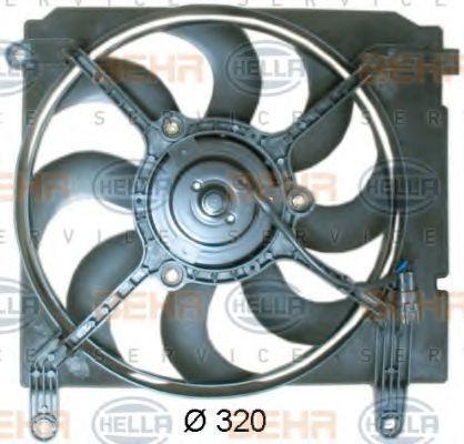 Вентилятор, охлаждение двигателя HELLA 8EW351041371