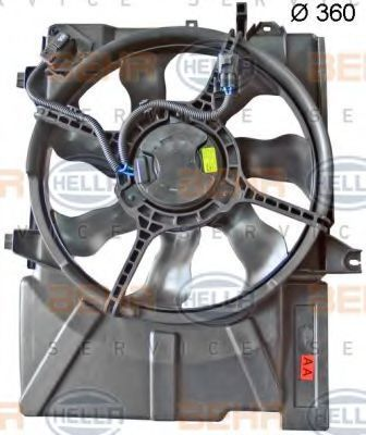 Вентилятор охлаждения двигателя HELLA 8EW 351 041-411