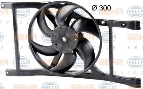 Вентилятор, охлаждение двигателя HELLA 8EW351042581