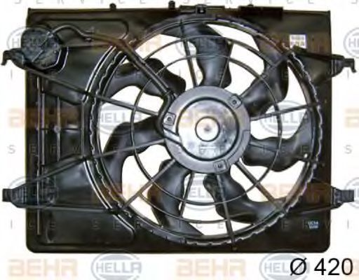 Вентилятор, охлаждение двигателя HELLA 8EW351042781