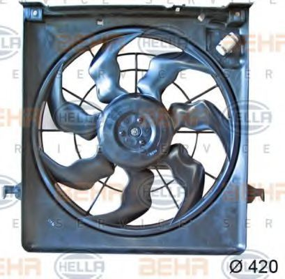 Вентилятор, охлаждение двигателя HELLA 8EW351042791