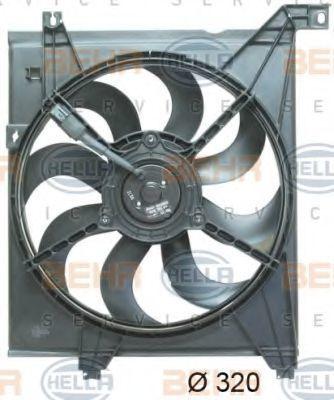 Вентилятор, охлаждение двигателя HELLA 8EW351043181