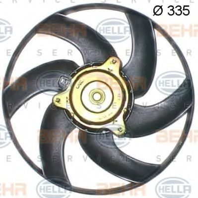 Вентилятор охлаждения двигателя HELLA 8EW351043511