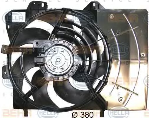 Вентилятор, охлаждение двигателя HELLA 8EW351043541