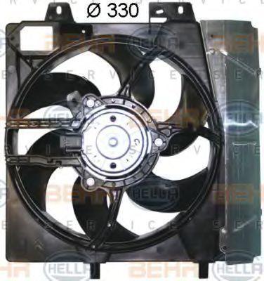 Вентилятор, охлаждение двигателя HELLA 8EW351043551