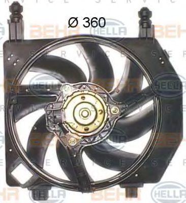Вентилятор, охлаждение двигателя HELLA 8EW351043581