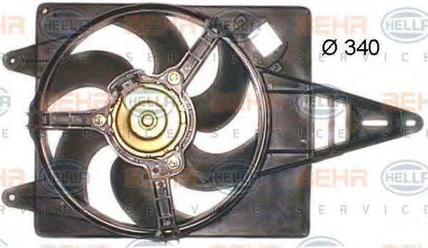 Вентилятор, охлаждение двигателя HELLA 8EW351043711